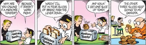 Medicare Toaster by John Hambrock