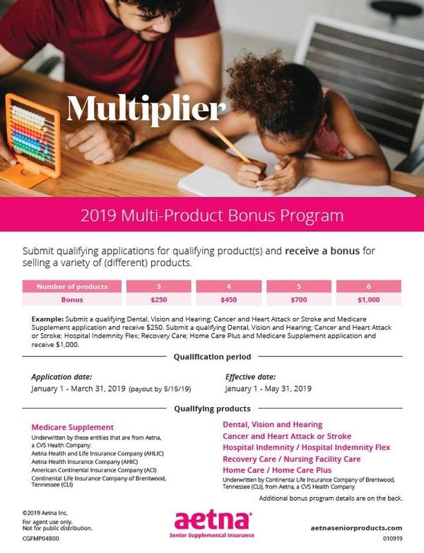 Aetna Mult-Product Bonus