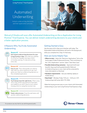 Mutual of Omaha Automatic Underwriting