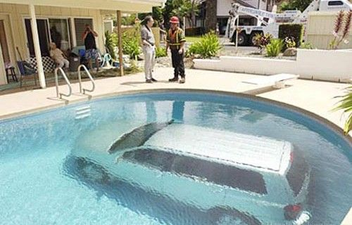 Car in pool Insurance
