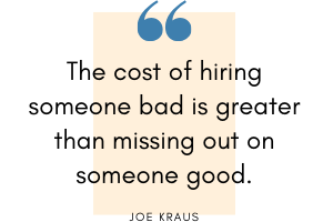 Joe Kraus - Hiring