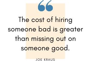 Joe Kraus - Hiring