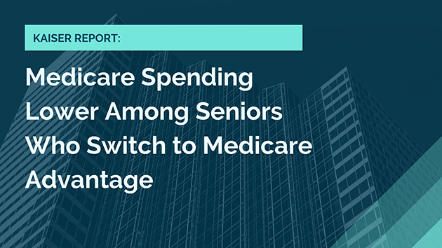 Medicare spending lower