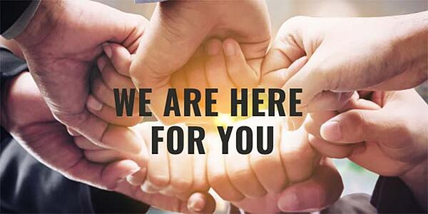 We are here for you blog