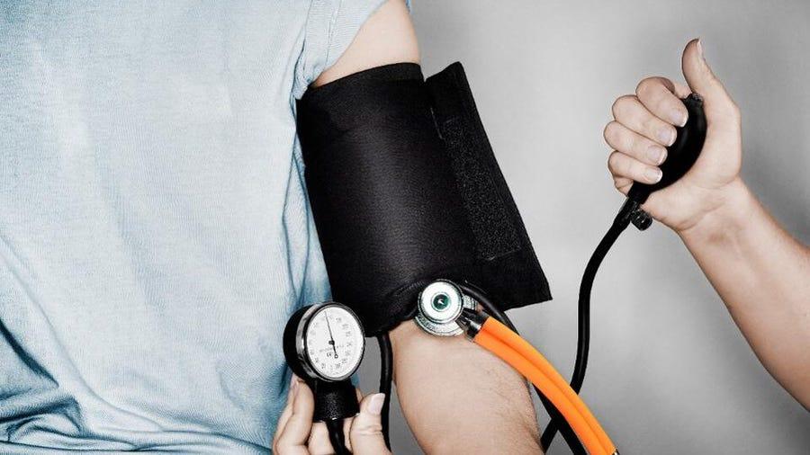 blood pressure of man