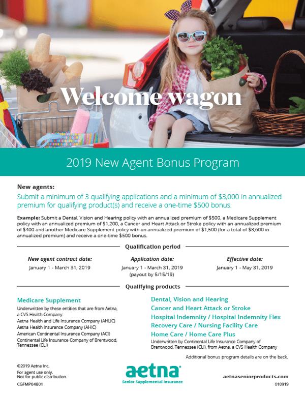 Aetna New Agent Bonus