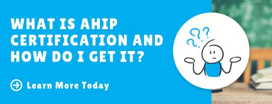 about AHIP certification slider